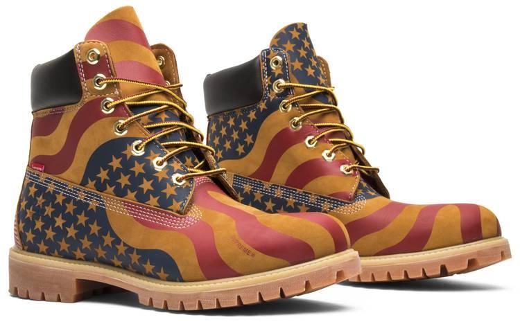 piuttosto pari Costume  Supreme x 6 Inch Premium Boot 'American Flag' - Timberland - TB0A1PHF   GOAT