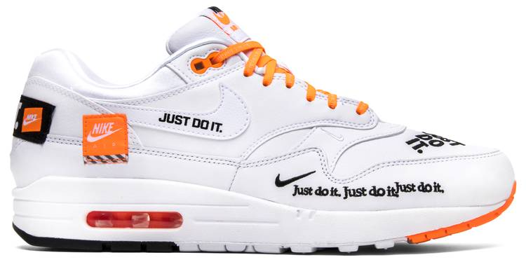 air max 1 orange just do it