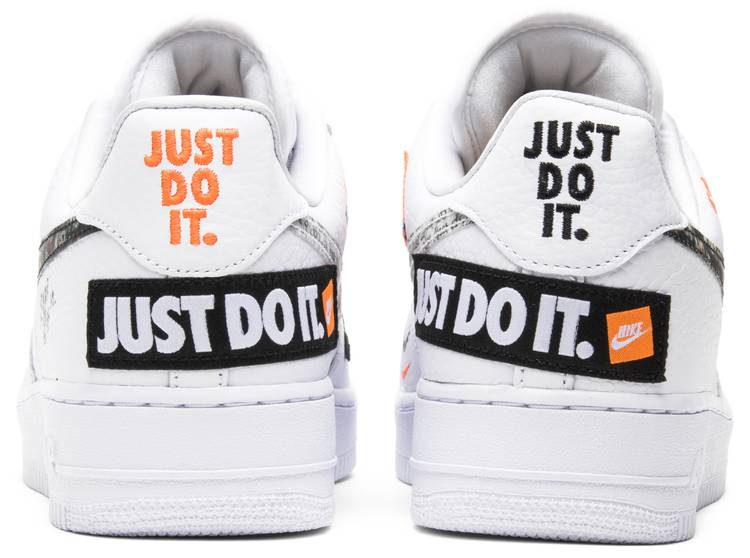 air force 1 just do it premium blanc