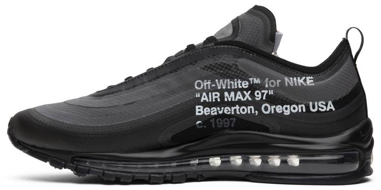 Off White X Air Max 97 Black Nike Aj4585 001 Goat