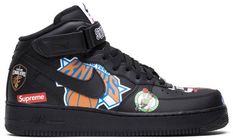 Supreme x NBA x Air Force 1 Mid 07 'Black'