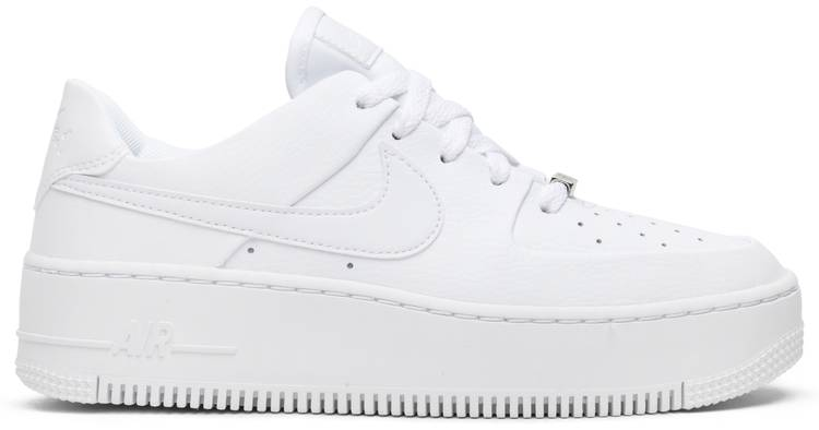 Wmns Air Force 1 Sage Low Triple White Nike Ar5339 100 Goat Iconic air force 1 design details. wmns air force 1 sage low triple white