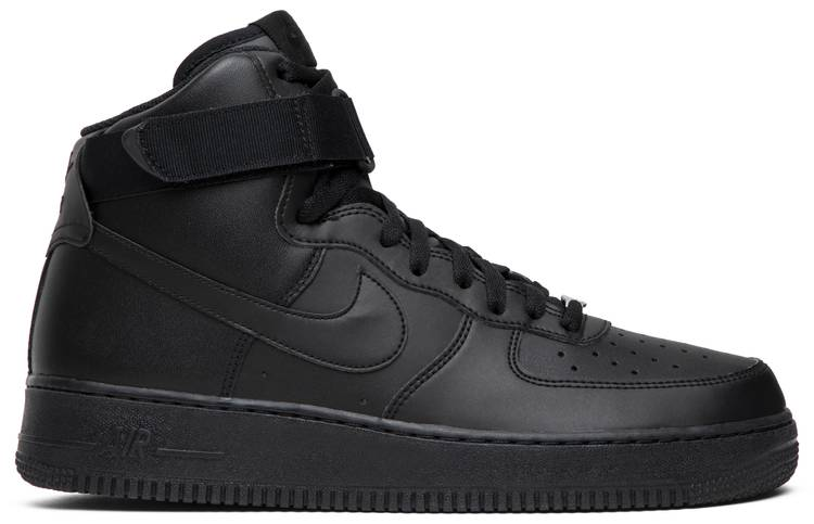white and black high top air force ones