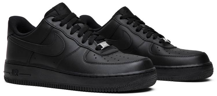 black air force 1 low top