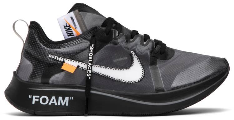 OFF-WHITE x Zoom Fly SP 'Black' - Nike - AJ4588 001 | GOAT