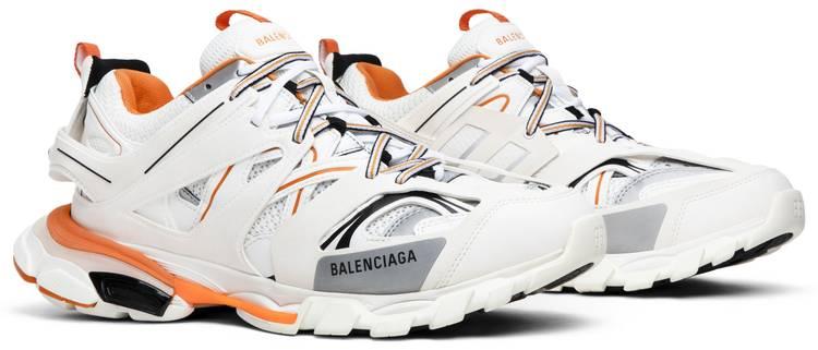 Balenciaga Track Trainer White Orange Balenciaga 542023 W1gb1 9059 Goat