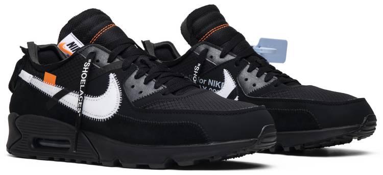 cebra Continente Cintura  Off-White x Air Max 90 'Black' - Nike - AA7293 001   GOAT