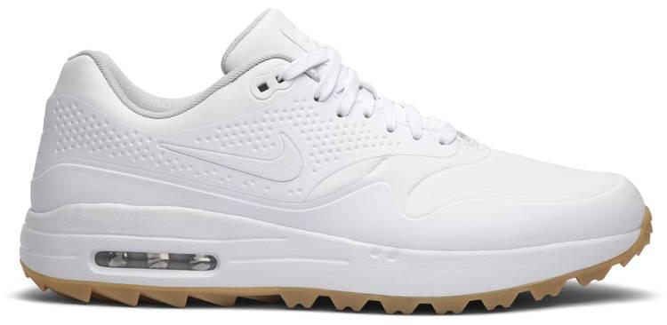Air Max 1 Golf White Gum White Swoosh Nike Aq0863 101 Goat