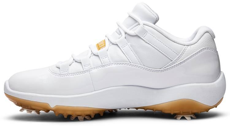 Air Jordan 11 Low Golf 'Metallic Gold'