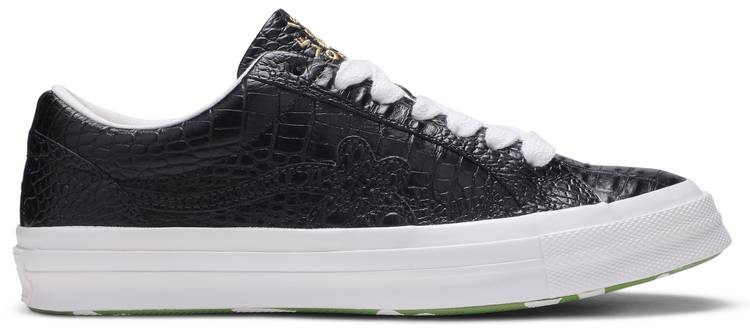 Golf Le Fleur X One Star Low Gator Collection Black Converse 165524c Goat