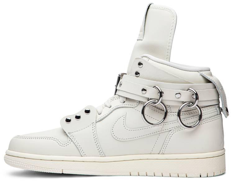 Comme des Garçons x Air Jordan 1 Retro Strap High 'White'