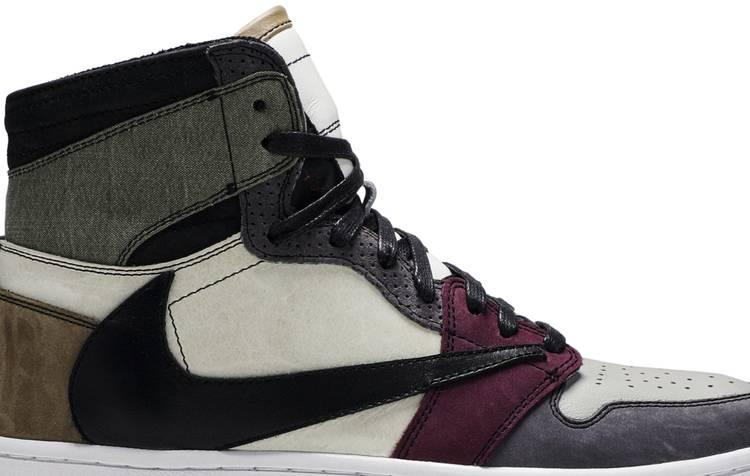 The Shoe Surgeon x Air Jordan 1 High 'Travis Scott Earth Tone Scrap Leather'
