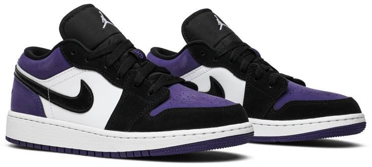 Air Jordan 1 Low GS 'Court Purple' - Air Jordan - 553560 125 ...