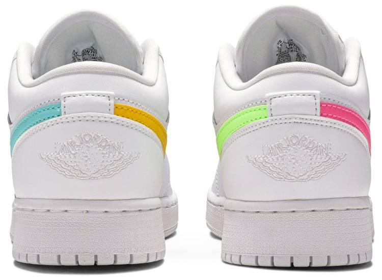 Air Jordan 1 Low GS 'White Neon'