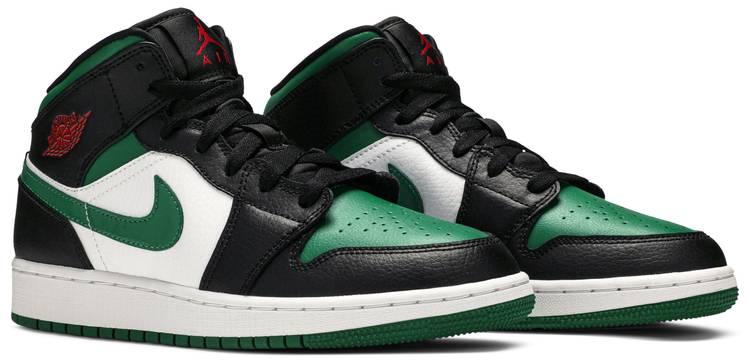 Air Jordan 1 Mid GS 'Black Pine Green'