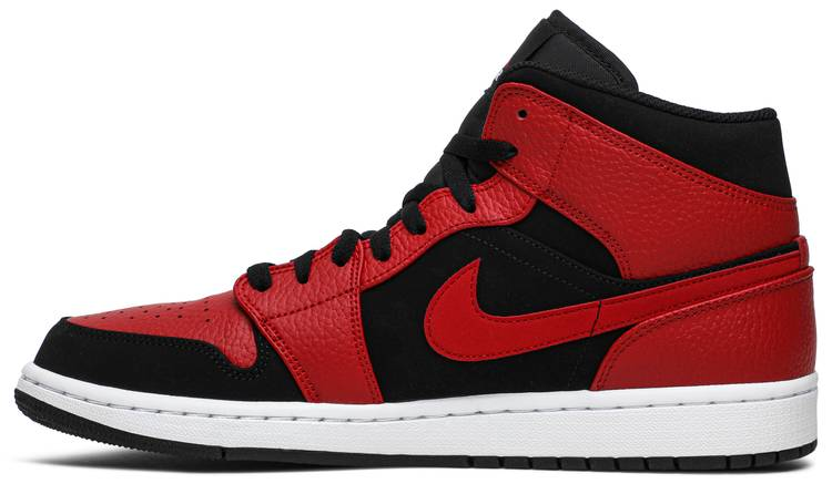 Air Jordan 1 Mid 'Bred' - Air Jordan - 554724 054 | GOAT