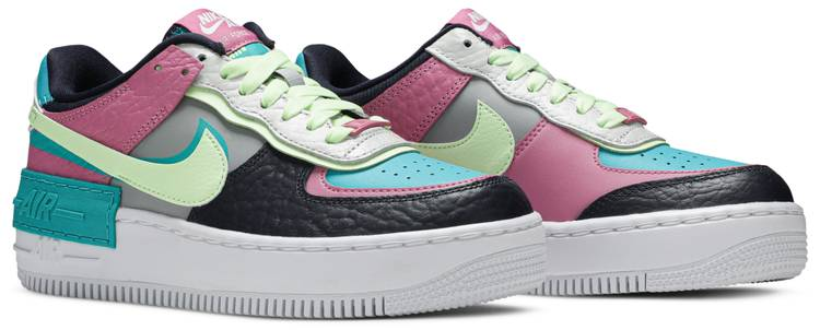 Wmns Air Force 1 Shadow Multi Color Nike Ck3172 001 Goat La nike air force 1 shadow est un modèle qui reprend les codes de la silhouette la plus emblématique de chez nike : wmns air force 1 shadow multi color