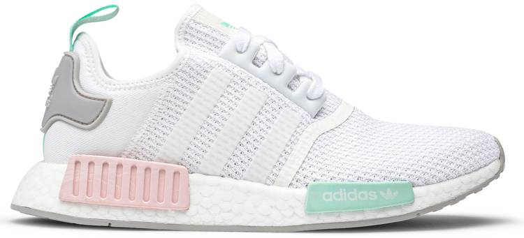 Wmns Nmd R1 White Pink Mint Adidas Fx7197 Goat