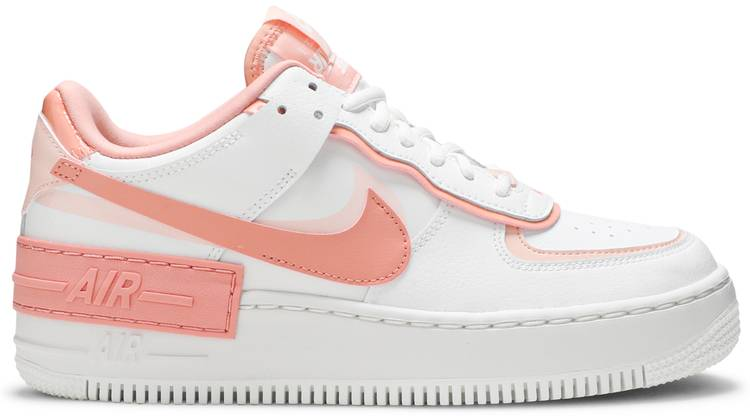 Wmns Air Force 1 Shadow Washed Coral Nike Cj1641 101 Goat