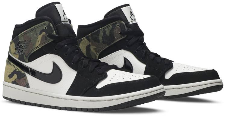 Air Jordan 1 Mid 'Camo' - Air Jordan - CW5490 001   GOAT
