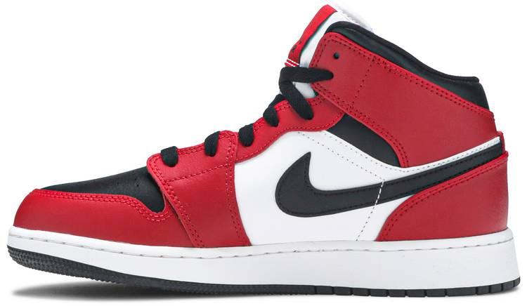 Air Jordan 1 Mid GS 'Chicago Black Toe