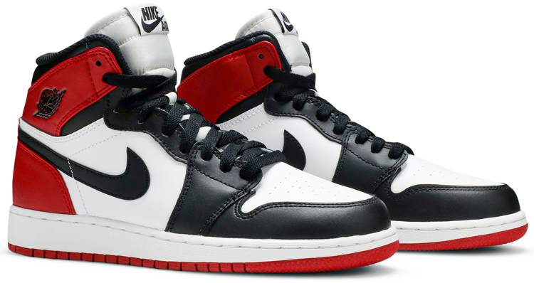 De este modo Bisagra piel  Air Jordan 1 Retro High OG GS 'Black Toe' 2013 - Air Jordan - 575441 184 |  GOAT