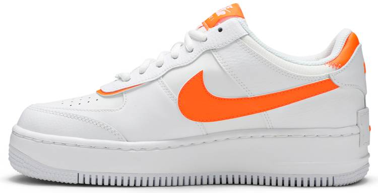 Wmns Air Force 1 Shadow Total Orange Nike Ci0919 103 Goat The nike air force shadow was initially designed to be a performance basketball shoe, to be worn on hardcourt and with features to help athletes grab air and improve movement. wmns air force 1 shadow total orange