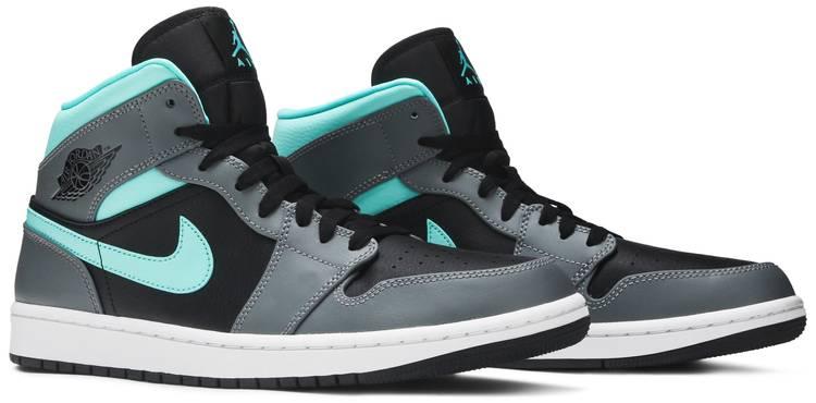 Air Jordan 1 Mid 'Grey Aqua'