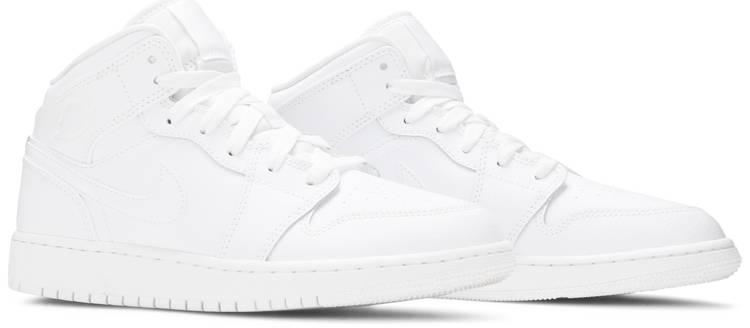 Air Jordan 1 Mid GS 'Triple White'
