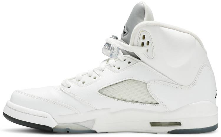 Air Jordan 5 Retro BG 'Metallic White'