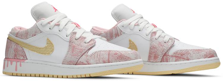Air Jordan 1 Low GS 'Strawberry Ice Cream'