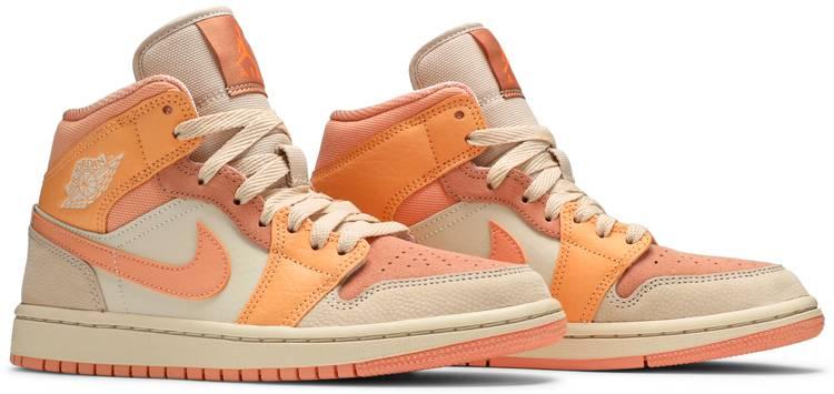 Wmns Air Jordan 1 Mid 'Apricot' - Air Jordan - DH4270 800 | GOAT