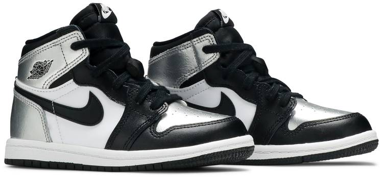 Air Jordan 1 Retro High OG TD 'Silver Toe'