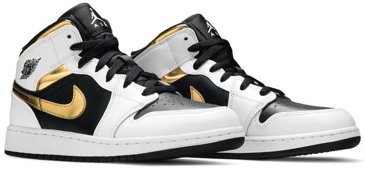 Air Jordan 1 Mid GS 'White Gold'