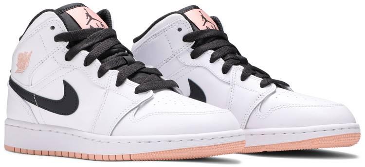Air Jordan 1 Mid GS 'White Arctic Orange'