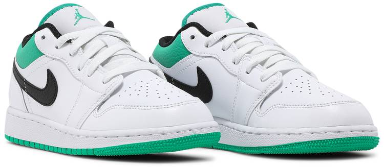 Air Jordan 1 Low GS 'White Lucky Green'