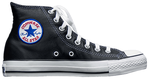Chuck Taylor All Star Leather Hi 'Black' - Converse - 1S581 | GOAT