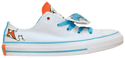 379bd7f781b Converse CT All Star Kids Low Top Dr. Seuss Double Tongue Thing 1 Thing 2