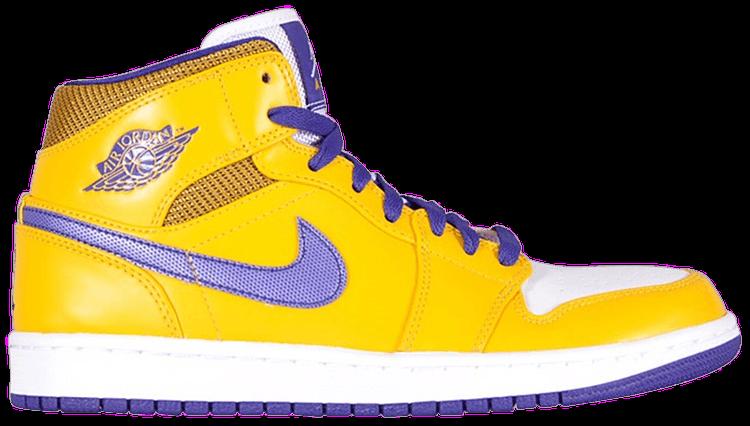 1667d85466b Air Jordan 1 Mid  Lakers  - Air Jordan - 554724 708