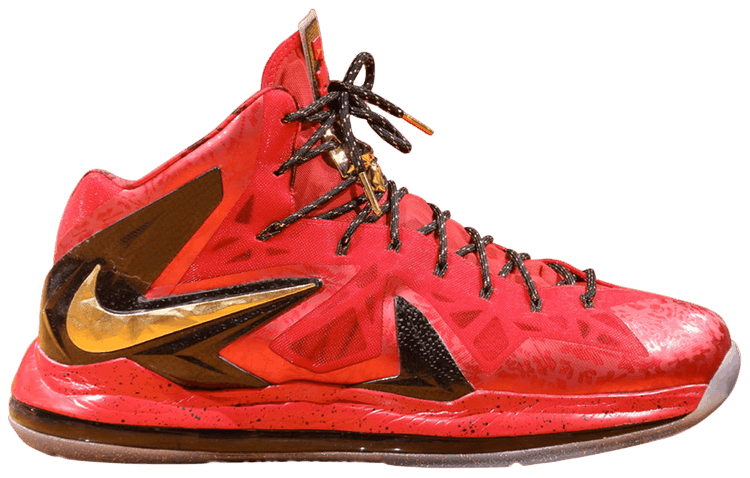red lebron 10
