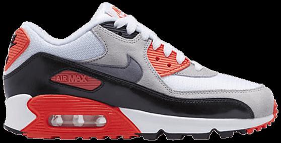 Air Max 90 Premium Mesh GS 'Infrared' - Nike - 724882 100 | GOAT