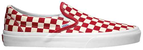 vans golden coast checkerboard slip on