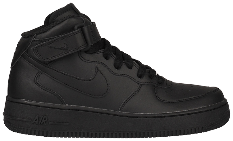 Air Force 1 Mid GS 'Black' - Nike - 314195 004 | GOAT