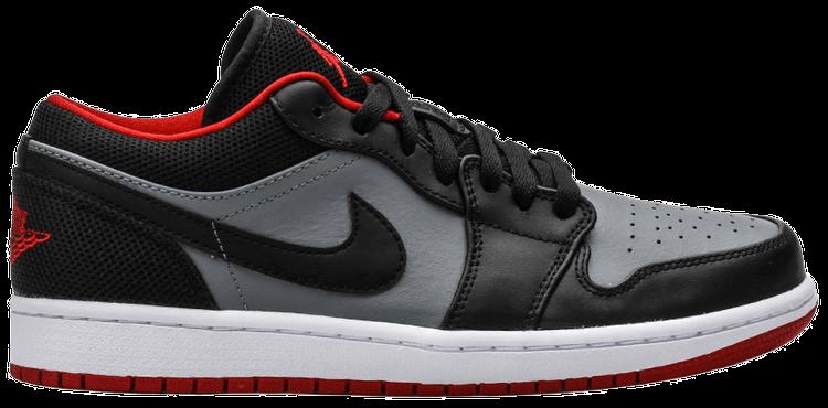 Air Jordan 1 Retro Low 'Black Red Grey' - Air Jordan ...