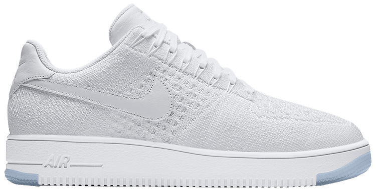 Air Force 1 Ultra Flyknit Low 'White Ice' - Nike - 817419 100 | GOAT