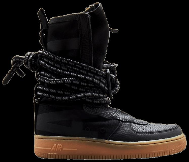 Sf Air Force 1 High Black Gum Nike Aa1128 001 Goat