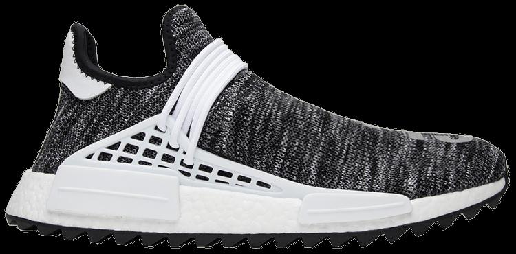 Pharrell x adidas NMD Human Race Trail 'Cotton Candy' BlackWhite Grey For Sale