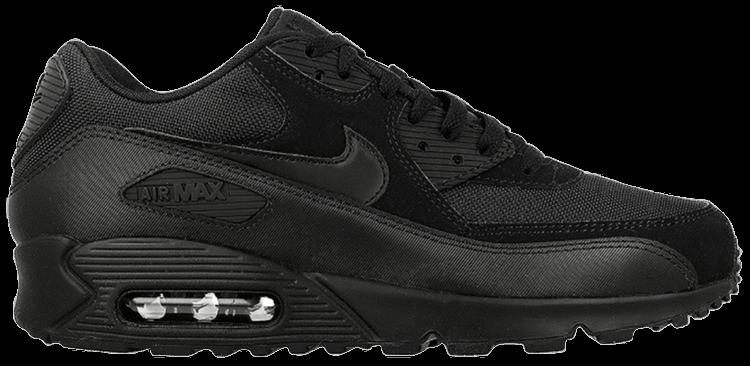 nike air max 90 essential black black black black 537384 090