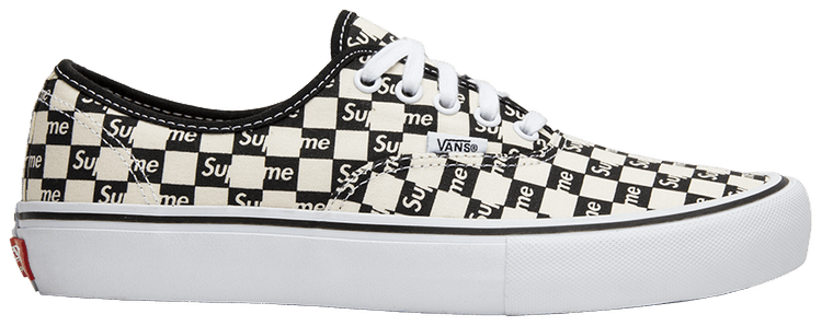 Supreme X Authentic Pro 'Checkered Black' - Vans - VN000Q0DJLW | GOAT