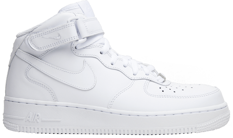 Wmns Air Force 1 Mid 07 Leather 'Triple White'